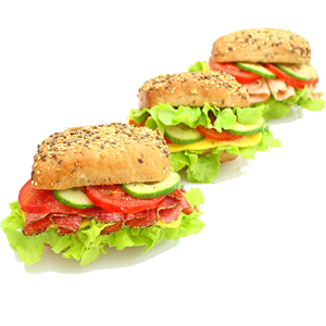 Lieferservice Düsseldorf belegte Brötchen Salami Käse Pute